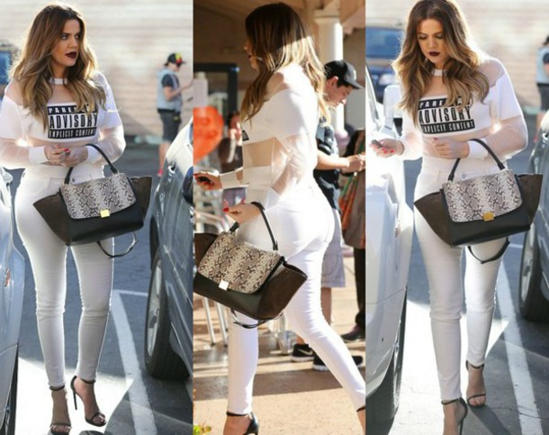Most incredible article about the love of White Jeans by Khloe ...