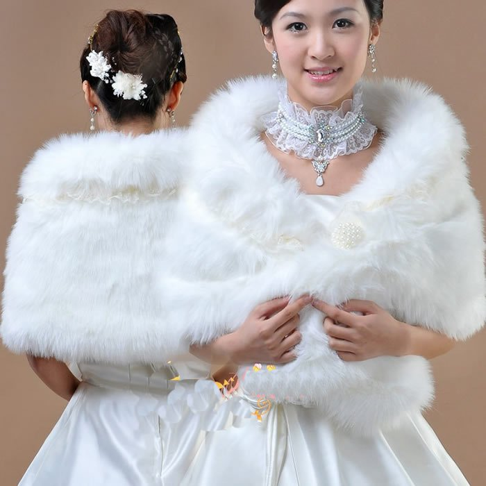 25 moderate price gorgeous wedding accessories for your for Fur shrug for wedding dress